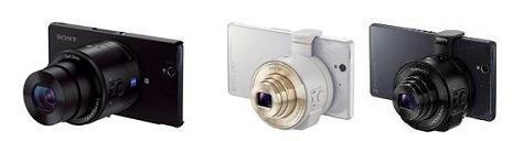 ソニーのレンズスタイルカメラ『DSC-QX100』『DSC-QX10』