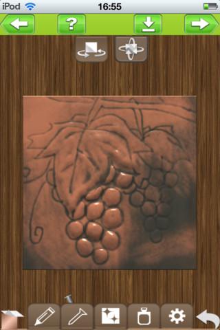 彫る 銅板レリーフ