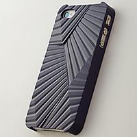 Simplism 次元シリーズ 峰 (Ridge) 鉄紺 iPhone 4/4S用 3Dテクスチャーカバー