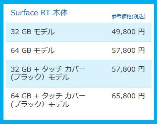 Surface 価格