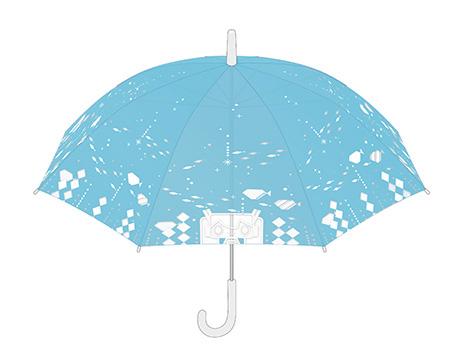 初音ミクがデザインされたビニール傘