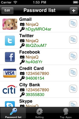 My Password パスワード管理