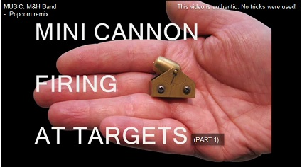 Mini Cannon Firing and Destroying Targets.
