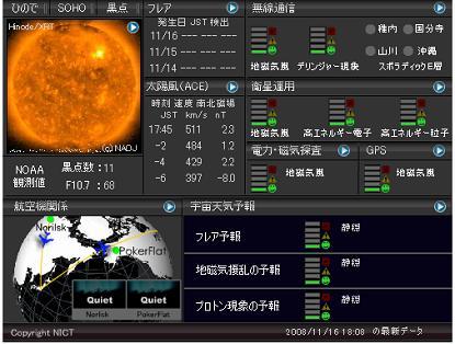 宇宙天気情報