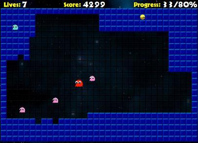 「PAC XON」ゲーム画面