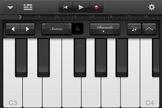 GarageBand ピアノ