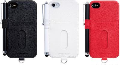 iPhone 4S/4用カードホルダー&ペンホルダー付きケース 『PIP-CHC2P』