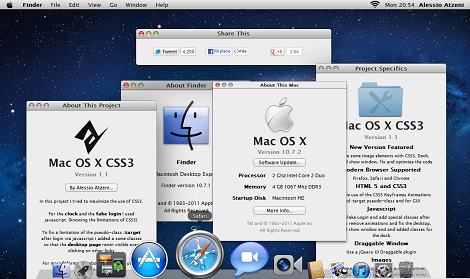 Mac OS X Lion CSS3