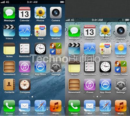 iPhone 5 ホーム画面