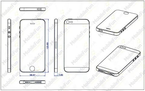 iPhone 5用ケースの設計図?