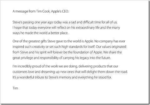 CEOのティム・クックからのメッセージ