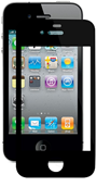 iPhone4/4S対応アンチグレア枠付き液晶保護フィルム アンチグレア(AG)タイプ