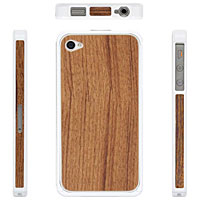 PATCHWORKS Alloy X Wood for iPhone 4/4S White×Teak