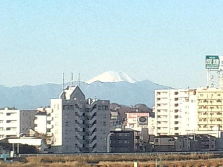 二子玉川駅から見てた富士山
