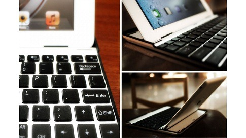 Aluminium KeyBoard Buddy Case for iPad 2