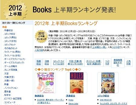 2012年 上半期Booksランキング