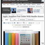 Appleが小型の8インチタブレット