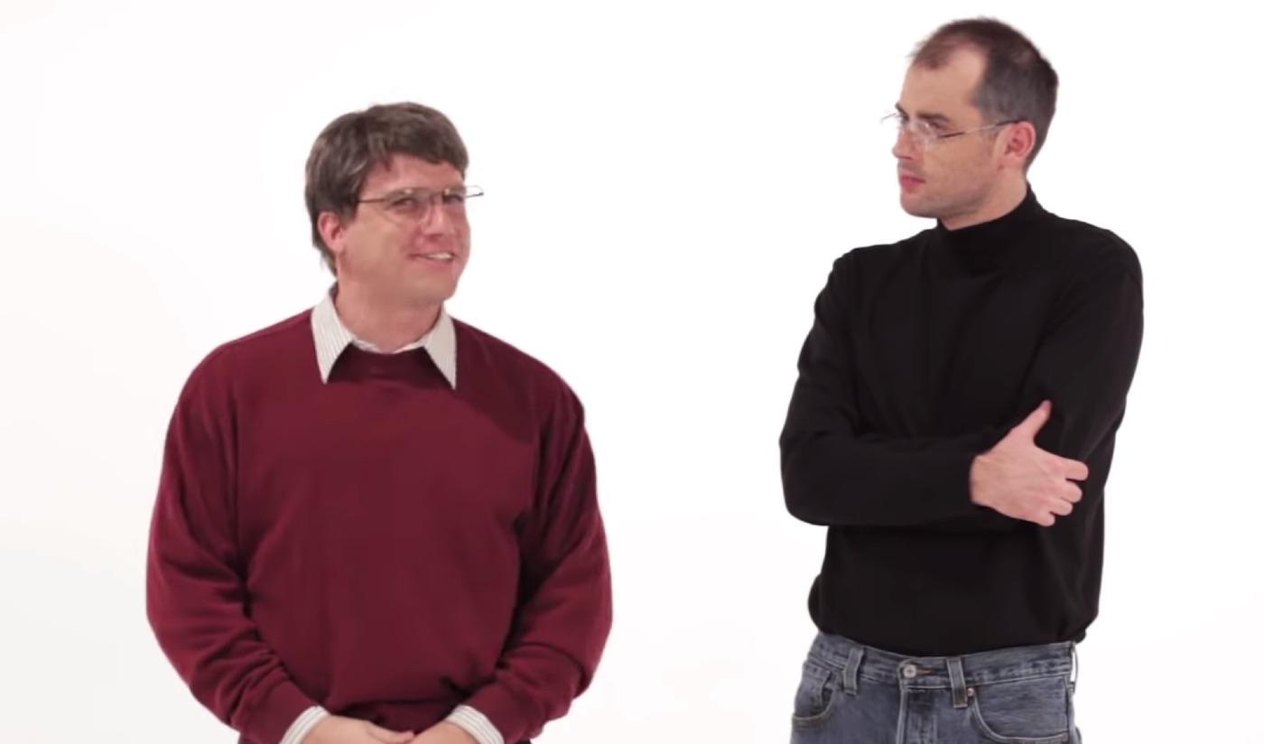 スティーブ・ジョブズとビル・ゲイツがラップ