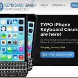 iPhoneがBlackBerry風になるキーボード付きケース「TYPO KEYBOARD CASE」