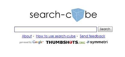 検索結果を3Dキューブで表示してくれる検索エンジン「search-cube」