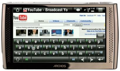 Google AndroidベースのInternet Media Tablet