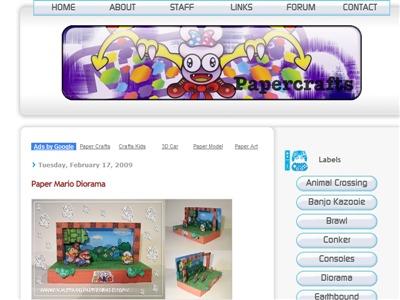 任天堂のゲームを中心としたペーパークラフトサイト「Nintendo Papercraft」