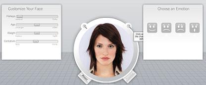 顔写真を3Dのようにグリグリ動かせる「Oddcast」