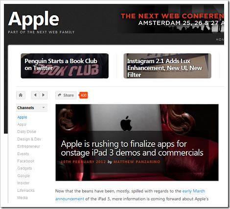 アップルが「iPad 3」発表イベントに向けてデモとなるアプリの準備などに急いでるらしい