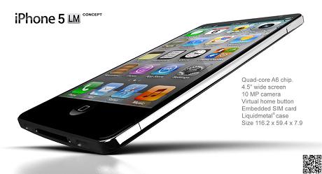 リキッドメタルを採用したiPhone 5のコンセプトデザイン「iPhone 5 LM」