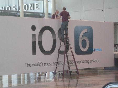 【アップル瓦版】WWDC 2012の会場に「iOS 6」の看板が登場!