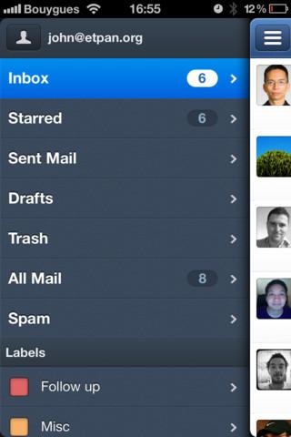 iPhoneのメールアプリ「Sparrow for iPhone」がバージョンアップでPOPアカウントに対応、さらに今なら85円!