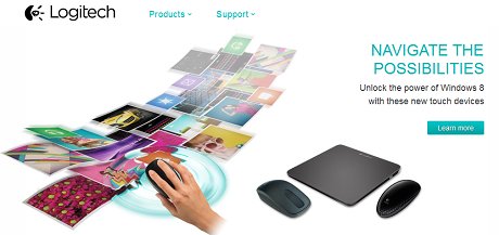 LogitechからWindows 8対応の「Zone Touch Mouse T400」、「Touch Mouse T620」、「Wireless Rechargeable Touchpad T650」が登場!