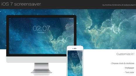 iOS 7のロック画面壁紙風なMacのスクリーンセーバーを入れる方法