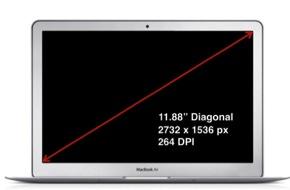 Retinaディスプレイを搭載「MacBook Air」は11.88インチ!?