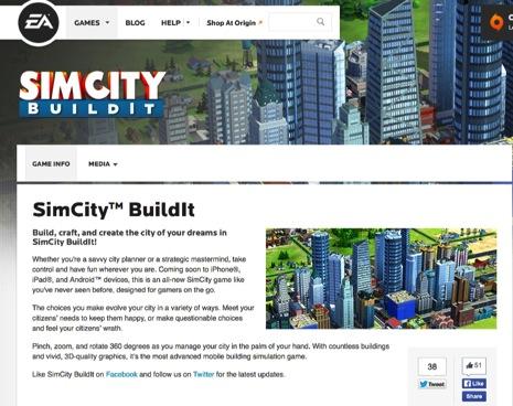 シムシティシリーズの新作『SimCity Buildit』がiOSで出る!スクリーンショットも公開!