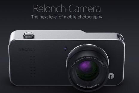 iPhoneに装着して高性能カメラに変身する「Relonch」
