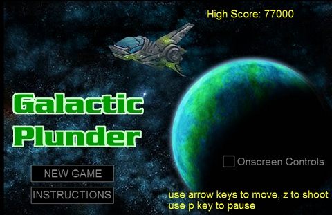 HTML5で作られたシューティングゲーム「Galactic Plunder」で遊んでみた