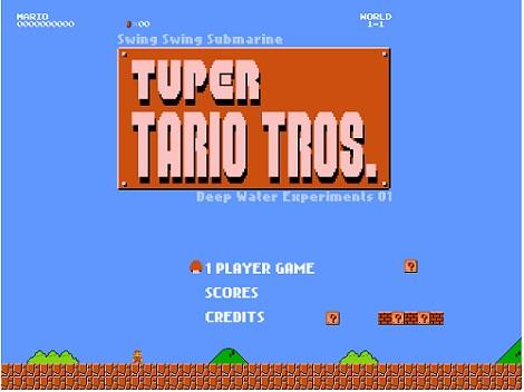 スーパーマリオとテトリスが合体したゲーム「Tuper Tario Tros」