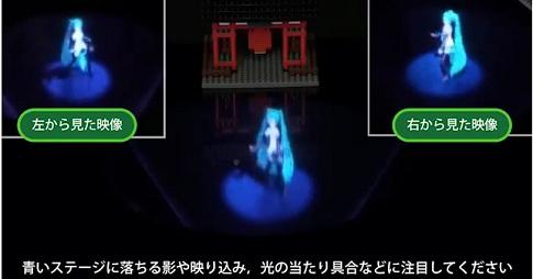 メガネなしテーブル型3Dディスプレイ「fVisiOn」で初音ミクが立体的なライブをやってる!
