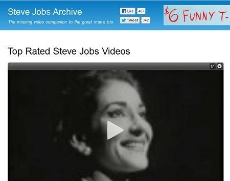 スティーブ・ジョブズの伝記本「Steve Jobs」に関連した動画がまとめられている「Steve Jobs Archive」