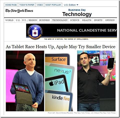 New York TimesもiPad miniに関して報道!