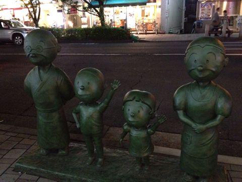 桜新町にある波平像の植毛を見てきた!