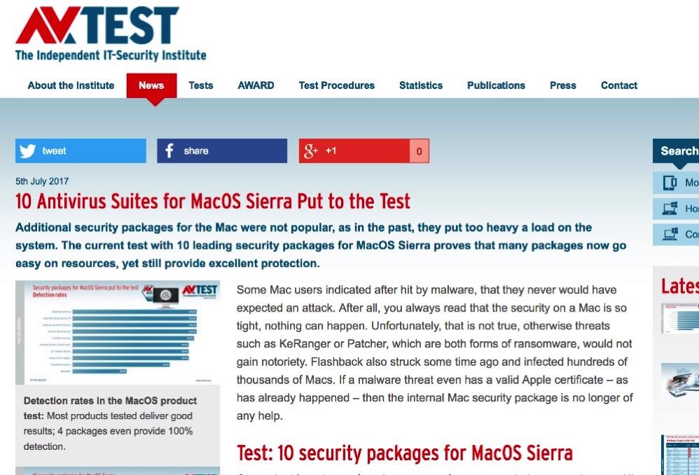 AV-TESTがウイルス・セキュリティ対策ソフト10本の検証結果を公開!