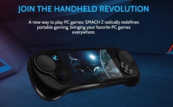Steamのゲームが遊べる携帯ハード「SMACH Z」のCPUがRyzenに!