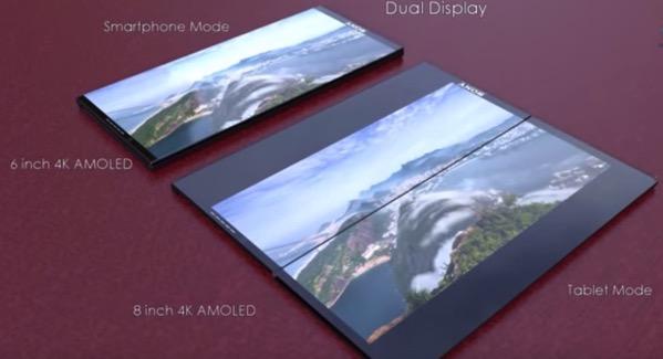 スライド式の2画面ディスプレイXperia「Xperia Slide」のコンセプトムービー