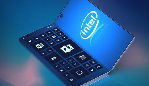 インテルの3つ折りディスプレイの特許を元にしたスマートフォンタブレットのレンダリング画像