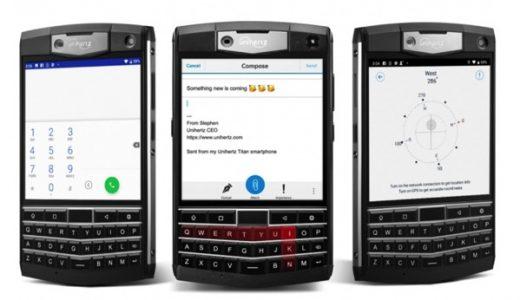 UnihertzからBlackBerryのようなQWERTYキーボード搭載の「Titan」が登場!