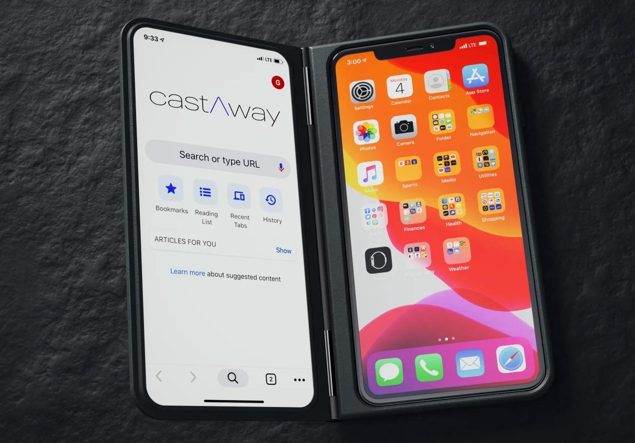 iPhoneを2画面化できるケース「castAway one」