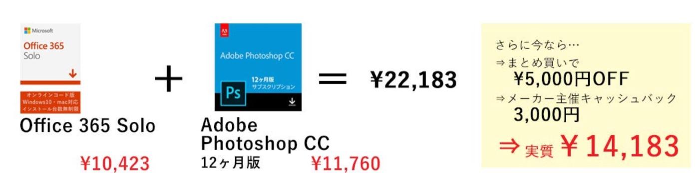 【最大6,000円OFF】Office 365 Solo(カード版)と対象商品まとめ買いキャンペーン
