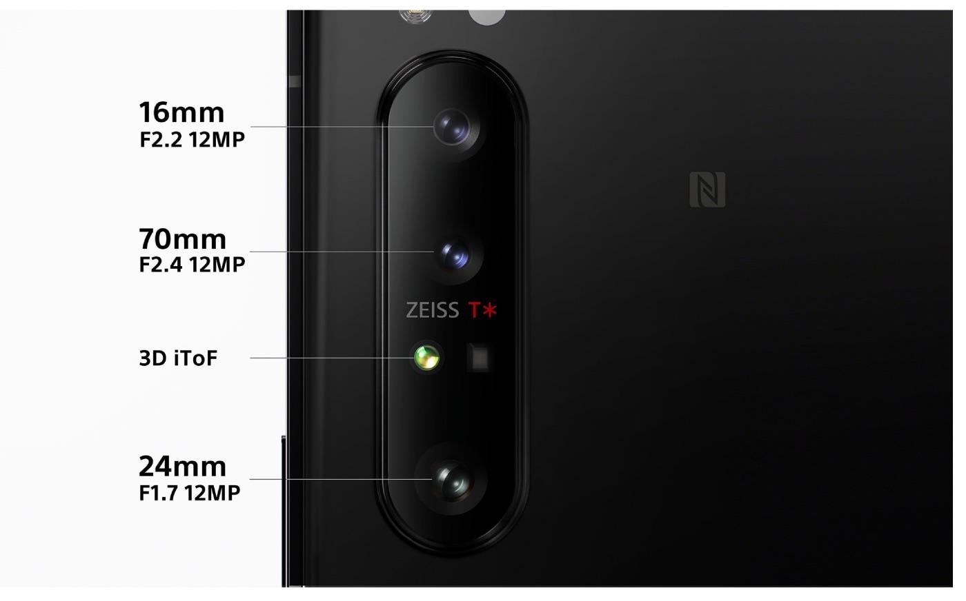 ZEISSレンズ 3つのカメラと深度センサー